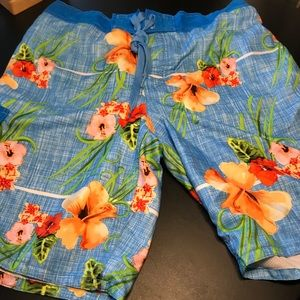 🌴Men's Tropical Swim Trunks Lg  Shorts